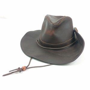 Henschel Aussie Leather Hat 100% Leather